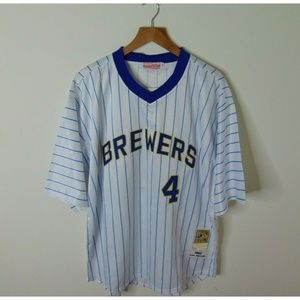 NEW Mitchell & Ness 52 Brewers Paul Molitor Jersey
